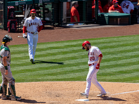 The Angels come from behind to beat Oakland 6-5