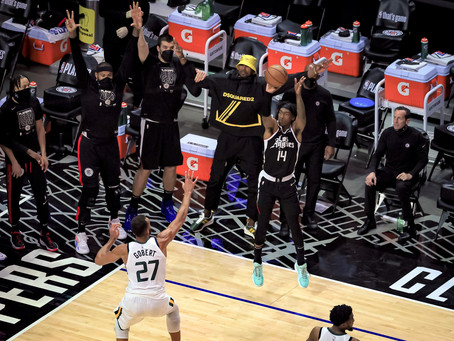 """Clippers """"Mann Up"""" to beat the Jazz 131-119 to adance to Western Conference Finals"""