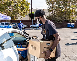 10-17-20 Dodgers Day Drive-Thru Food Giveaway Gallery