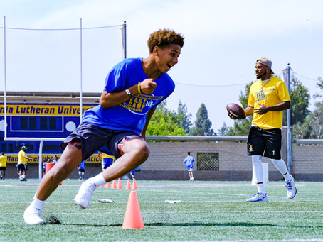 The Rams DeSean Jackson hosted youth football and fitness camp at Cal Lutheran University
