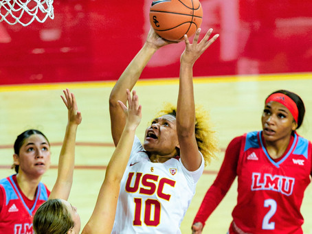 USC routs LMU 85-55 for first win of the season