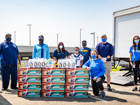 The Los Angeles Chargers give back to the Inglewood Youth Football League