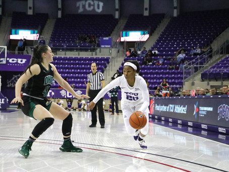 TCU  Stormed Back in the fourth quarter to beat the Ohio Bobcats 79-72
