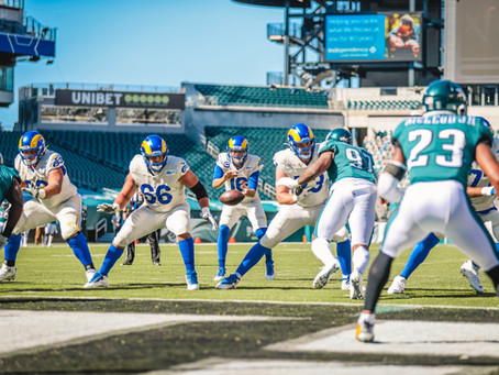 Rams' Tyler Higbee Scores 3 Touchdowns in 39-17 Victory over the Eagles