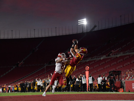 Amon-Ra St. Brown and the Trojans beat the Cougars 38-13