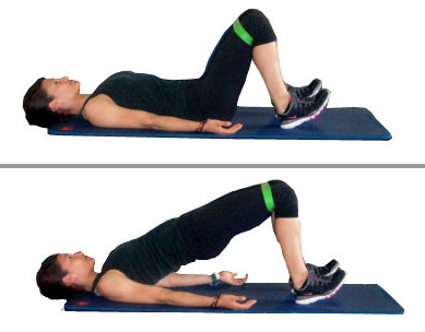 glute hip bridge stretch