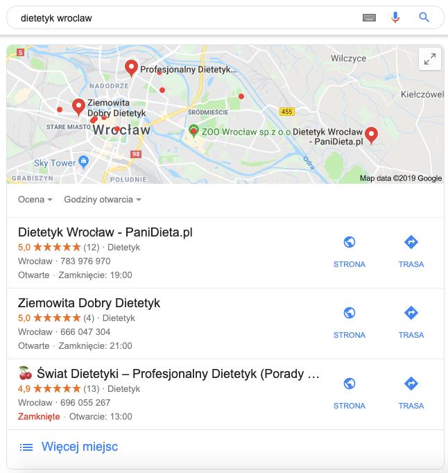 Top3 Wizytówka Google Moja Firma