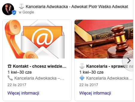 Wpis google - Piotr Waśko - SEOmotive