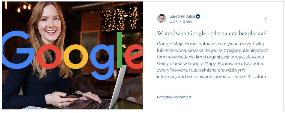 czy wizytowka google jest platna