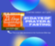 21 Days of Prayer & Fasting - Summer 202