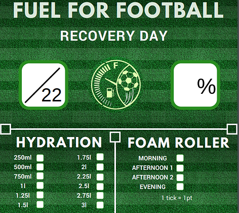 Recovery Day Score Chart