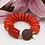 Thumbnail: SPRECIOUS Buddha Bambuskoralle Armband Orange