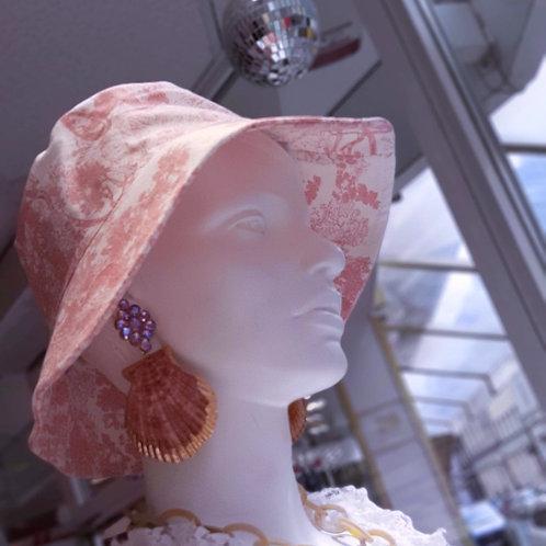 Toile De Jouy Bucket Hat Rosa