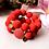 Thumbnail: Candy Rochenleder Armband Rot / Set Gold oder Silber