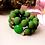 Thumbnail: Candy Rochenleder Armband Grün / Set Gold oder Silber