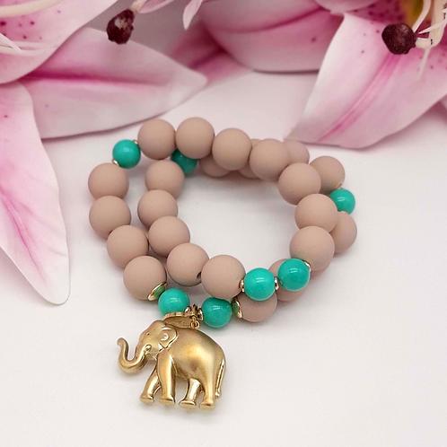 SPRECIOUS  Elephant Armband Türkis