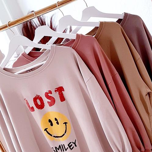 LOST SMILEY Sweater versch. Farben