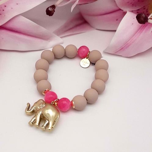 SPRECIOUS  Elephant Armband Pink