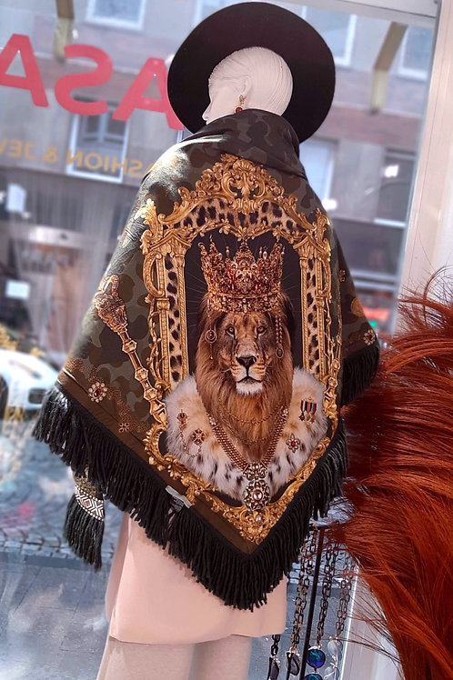 MAHARADSCHA Scarf Camouflage Lion Green Gold