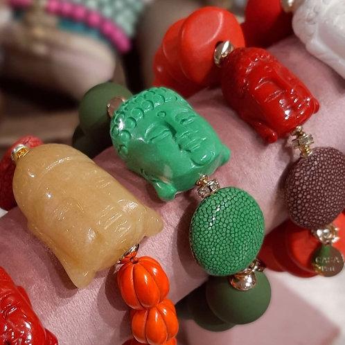 SPRECIOUS Buddha Rochenleder Armband