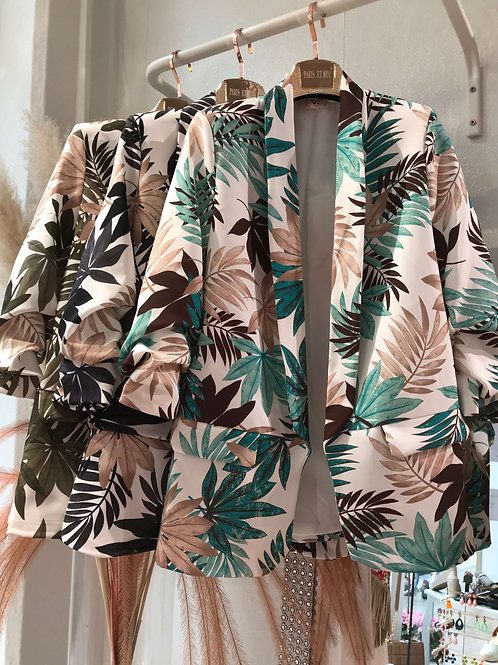 Safari Palm Tree Blazer 3 Farben