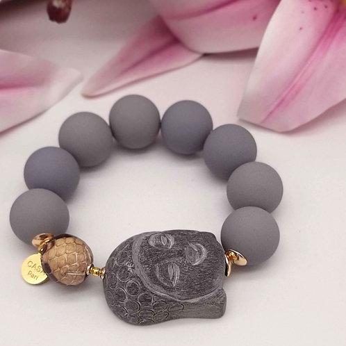 SPRECIOUS Buddha Armband Grau