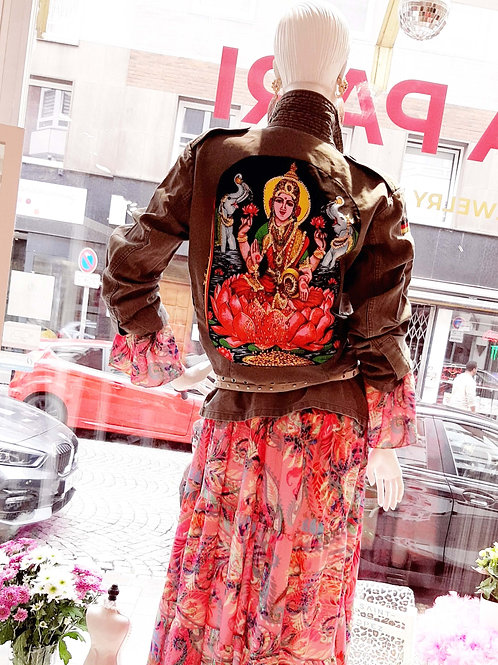 Lakshmi Goddess Military Jacket