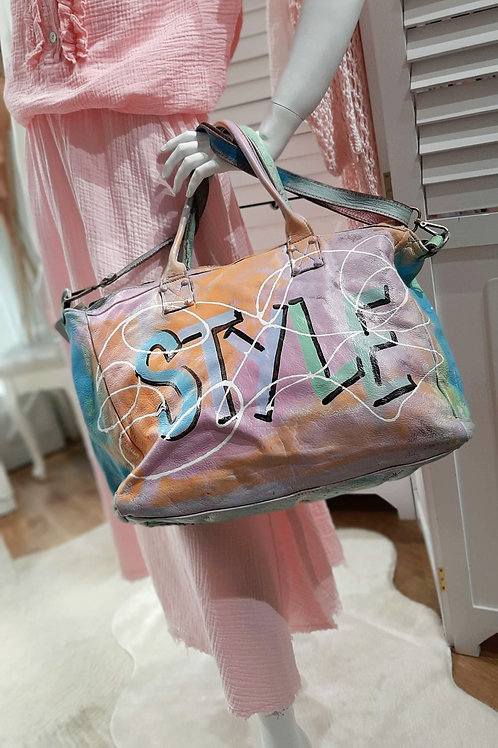 Hand painted Fashion Leather Bag