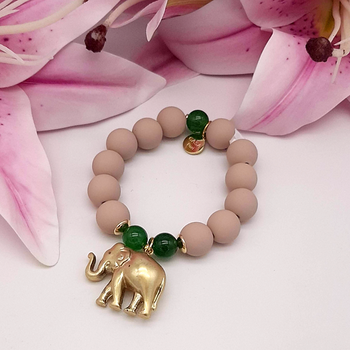 SPRECIOUS  Elephant Armband Grün