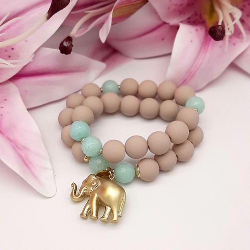 SPRECIOUS  Elephant Armband Mint