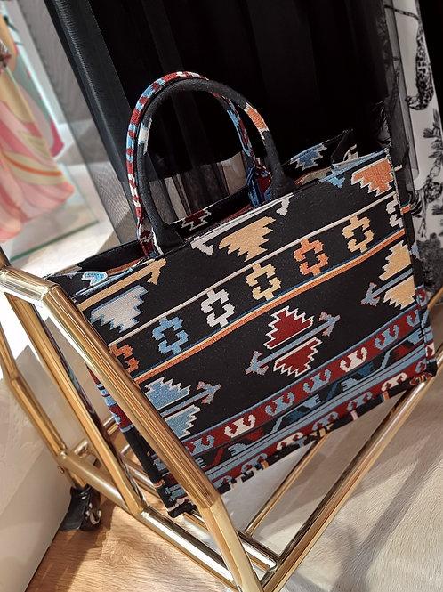 Azteken Book Tote Bag Large Multicolour