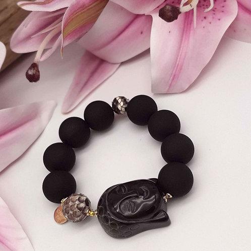 SPRECIOUS Buddha Armband Schwarz