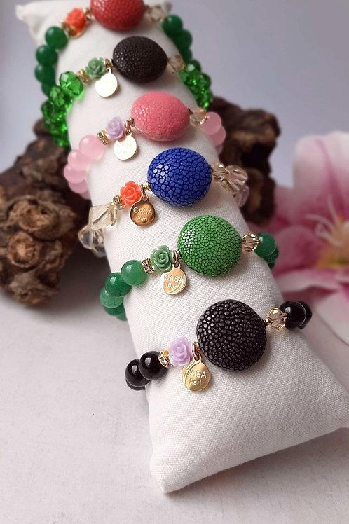 SPRECIOUS Candy Rochenleder Armbänder