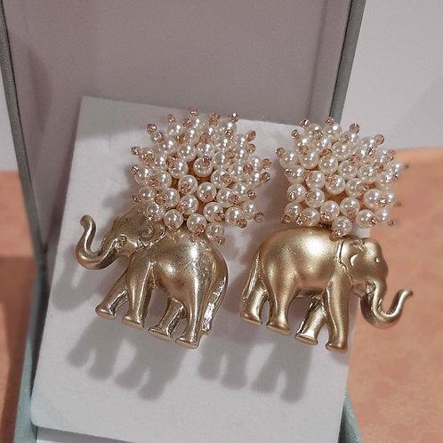 Ohrstecker Golden Elephant