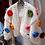 Thumbnail: DE LUXE Flower Power Strick Jacke kurz