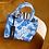 Thumbnail: Original ANOKHI Bag Large Blue Toile de Jouy