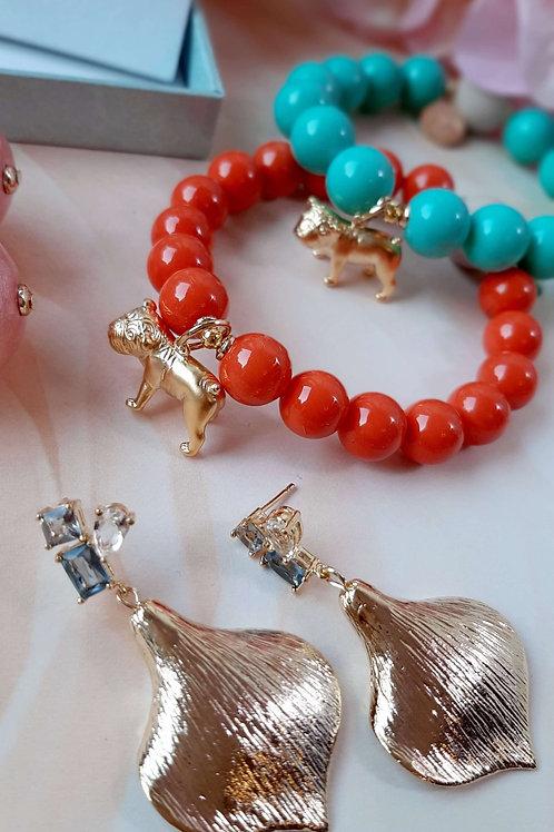Sweet Bulldogge Armband Muschelkern 2 Farben