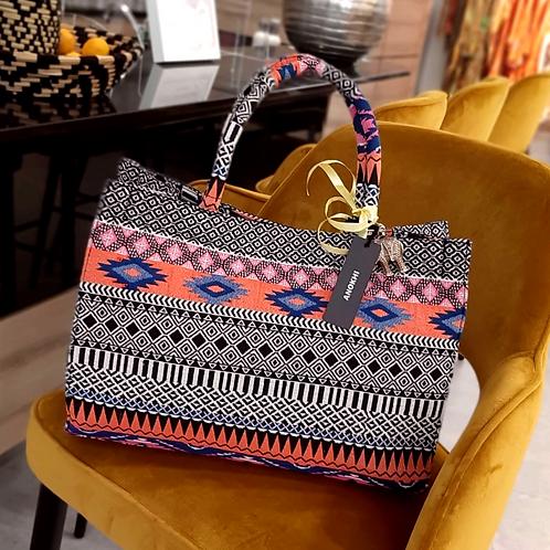 Original ANOKHI Bag Large Black & Multicolour