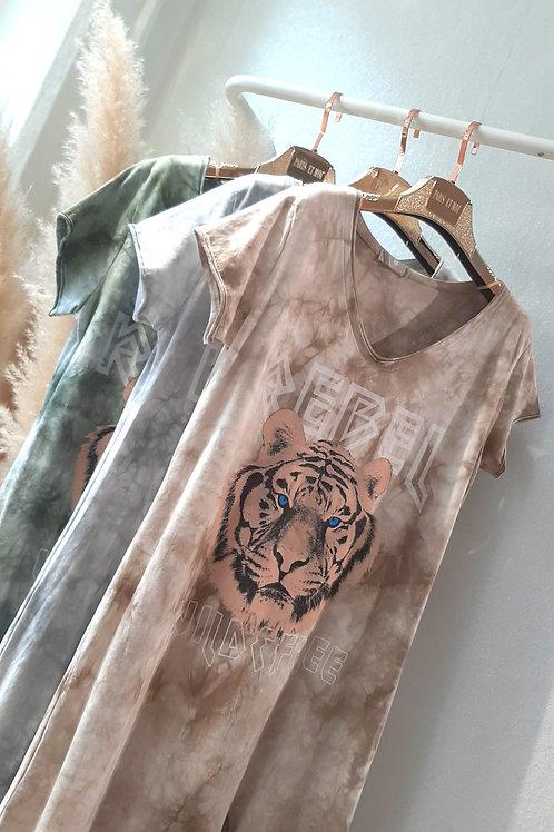 Batik T-Shirt Kleid Midi 3 Farben