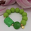 Thumbnail: SPRECIOUS Buddha Rochenleder Armband Pistazie