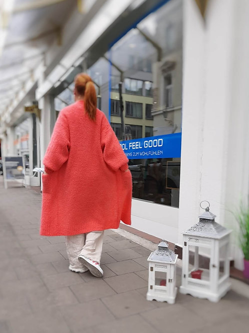 CANDY POP Long Jacket Coral
