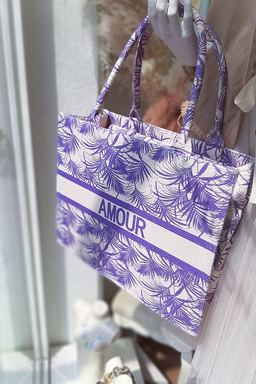 AMOUR Book Tote Bag Large Lavendel