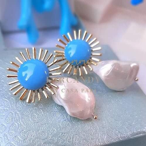 Ohrstecker Côte d'Azur Golden Pearl