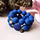 Thumbnail: Candy Rochenleder Armband Blau / Set Gold oder Silber