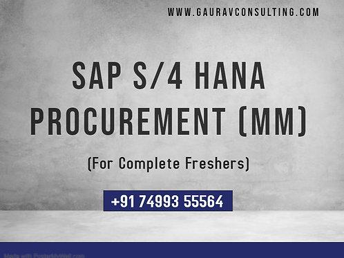 SAP S4 HANA Procurement (MM) Live Training