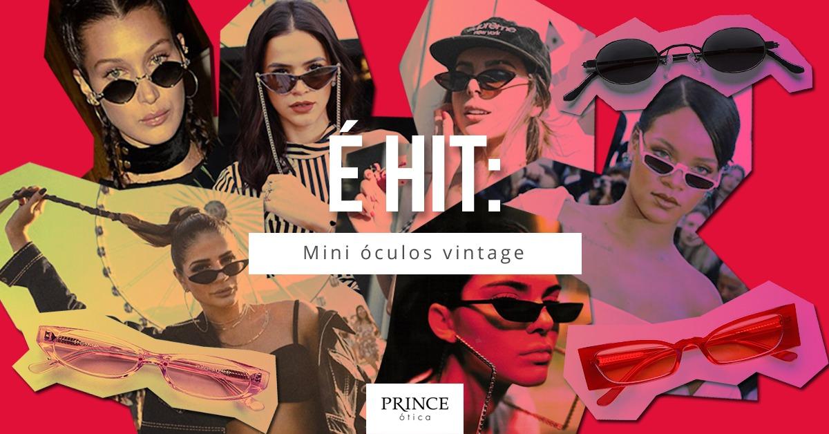 É hit  mini óculos vintage!   Ótica Prince Bauru 3cbc92532e