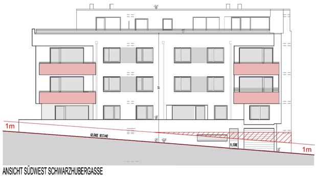 geplanter Bau Schwarzhubergasse