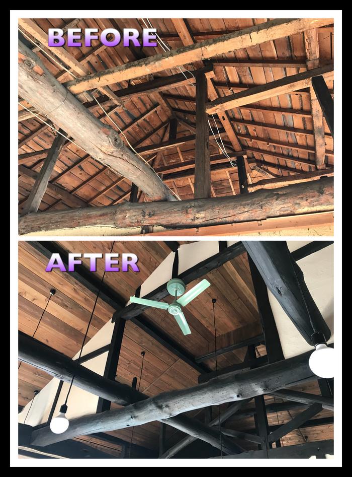 母屋の屋根貼り完了!