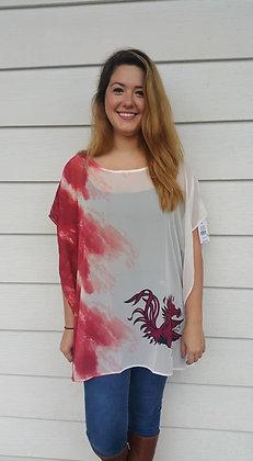 Gamecock Tie-dye Tunic