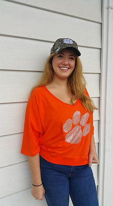 Clemson Game Day Blingy V-Neck Top